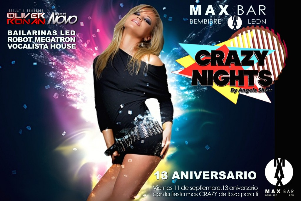 Cartel crazy Nights Bembibre